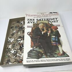 Vtg Norman Rockwell Saturday Evening Post Doctor And Doll 551 Pc Jigsaw Puzzle