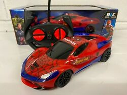 Spiderman Radio Remote Control Car Fast Speed Red Boxed Uk Stock
