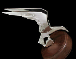 20s 1930s 40s 1950s 1951 Winged Bird Hood Ornament Mascot Ford Accessory Vintage