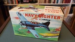 Hubley Navy Fighter Plane + Box. Vintage Toy Metal Airplane. New.