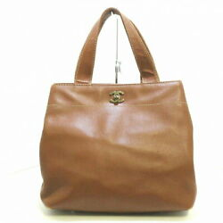 Tote Bag Women And039s Vintage Silver Fittings Caviar Skin B _58904