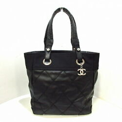 Palivia Ritz Tote Pm Bag Silver Fittings Black Coated C _58915