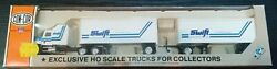 Con Cor Ho Scale Swift Trans. Mack Tractor With 27' Twin Piggy Back Trailers
