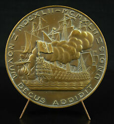 Medal Anne Hilarion Costentin Of Tourville Pierre Turin Naval Battle 1942