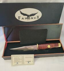 Wyatt Earp Hunting Bowie Knife Replica By Falkner Collector's Edition
