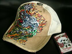 Ed Hardy Leather Cap Nwt Authentic Item