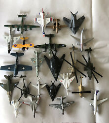 Lot Of 23 Die Cast Airplanes Helicopters Jet Planes Military Air Force F-14