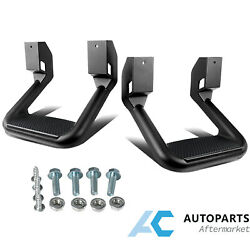 2pcs Universal Truck Side Step Black For Trucks Chevy Ford Gmc Dodge Ram Jeep