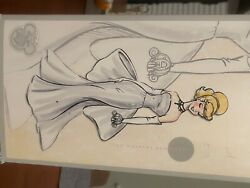 D23 Designer Cinderella Doll Silver As Is. 25th Anniversary Of Disney Store.