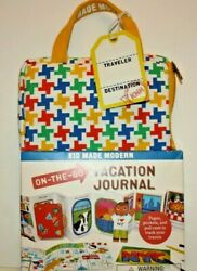 KID MADE MODERN ON THE GO Vacation Journal Activity Kit Set NEW