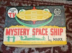 Vintage Marx Mystery Space Ship Toy In The Original Box