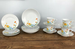 Vintage Imperial China W. Dalton Just Spring Breakfast Set 16 Pieces