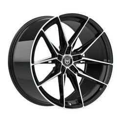 4 Hp1 22 Inch Staggered Black Rims Fits Mercury Grand Marquis 2000 - 2002