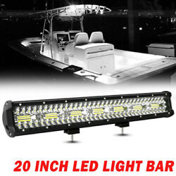 20and039and039 Marine Spreader Lights Led Light Deck/mast Lights Boat Spot Flood Combo 22and039