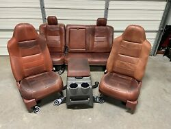 1999-2010 Ford F250 F350 F450 Super Duty King Ranch Front And Rear Seats