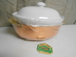 Smythe And Cook Copper And Porcelain Insert Oval 2 1/2 Qt Casserole Baking Dish