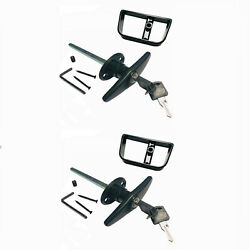 2 Sets 6 Blackt Handle Door Lock Replacement Shed Gate Whole Set 1800