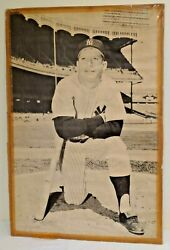 Vintage Mickey Mantle Yankees Poster Mannyand039s Store Prototype 1960s Requena 30x44