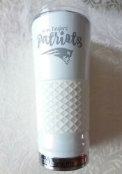 New England Patriots Pats 24oz Thermos Insulated Mug Hot Cold Beverages Nfl New
