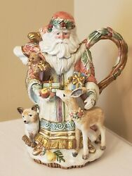 Fitz And Floyd Classics Enchanted Holiday Pitcher / Teapot