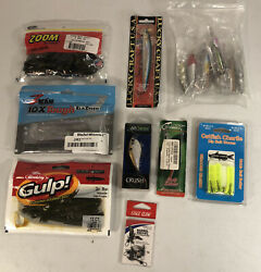 Mixed Bundle Fishing Lures And Bait 30+ Pieces Zman Zoom Lucky Craft 6th Sense New