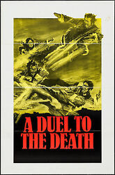Rare Movie Poster A Duel To The Death 1983 27 X 41 Martial Arts Kung Fu Action