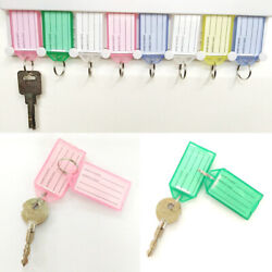 10/5 Pcs Plastic Key Tags Container Key Labels With Ring Andlabel Window 4 Colors