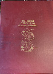First Hummel Gold Christmas Ornament Collection 36 Pieces Circa 1980's In Box