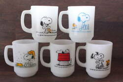 Set Of 5 Beautiful Products Fire King Mug Snoopy Pure Joy Morning Allergy Cof