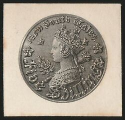 New South Wales 1861 Qv Coin 1/- Black Perkins Bacon Original Die Proof. Rare