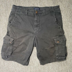 American Eagle Cargo Shorts Mens 36 Extreme Flex Classic Brown