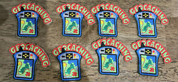 8 Girl Boy Cub Geocaching Exploring Patches Badges Scout Geo Caching Lot Troop