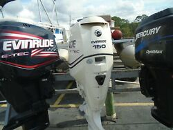 Used Evinrude 2011 150 Hp Etec 25 Outboard Boat Motor Engine- Great Comression