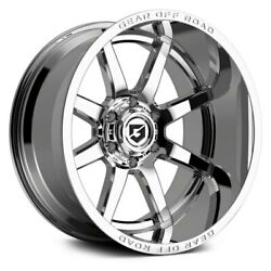 Gear Offroad 762c Pivot 20x10 6x139.7 Offset -19 Chrome Plated Quantity Of 4