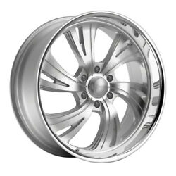 Dropstars 658bs 24x11 6x135 Et40 Silver/brushed Face And Polished Lip Qty Of 4