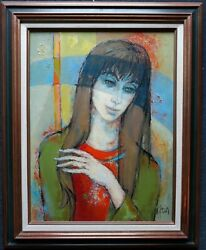 GUILY JOFFRIN 1909 2007 FRANCE VINTAGE MODERN OIL quot;LA SONGEUSEquot; WELL LISTED
