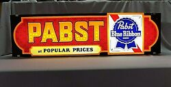 Vintage Pabst Blue Ribbon Lighted Beer Sign - Bar - Man Cave - At Popular Prices