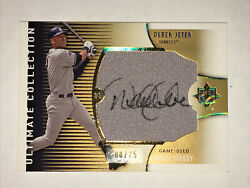 2008 Ud Ultimate Collection Derek Jeter Jersey Relic Auto Autograph 8/25