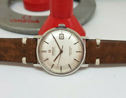 Vintage Omega De Ville Rare Textured Silver Dial Cal562 Auto Manand039s Watchandpapers