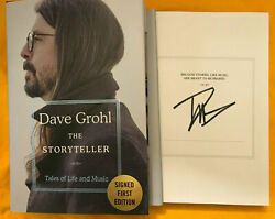 Dave Grohl Signed Storyteller 1st Edition Hardcover Book Rare. Sold Out
