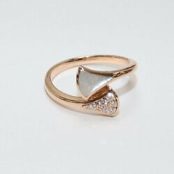 Bvlgari Diva Dream Ring 750 Pg Shell 7pd About No.13 3.1g _19740