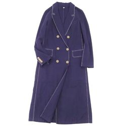 Coat Long Chester Court Women And039s Cotton Outer Navy Ci09dn-rm05c0 _65216