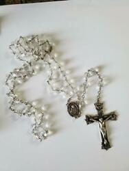 Vintage 60and039s Creed Sterling Crystal Heirloom Rosary