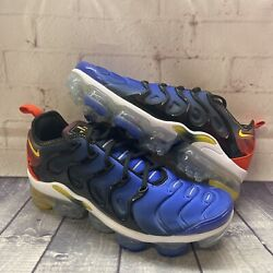 Nike Air Vapormax Plus Red Blue Yellow Shoes Dc1476-001 Mens Size 8.5 New