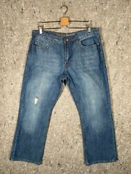 Urban Up Premium Denim Mens Jeans Size 36x30 - Faded Lightly Distressed Bootcut