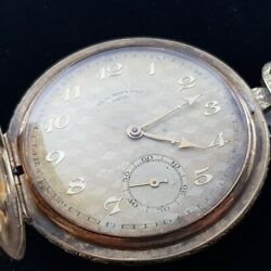 14 Ct Solid Yellow Gold Phdu Bois And Fils Pocket Fob Watch 36897