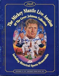 1997 Leland Auction Catalog Mickey Mantle Autographed Cover And039d To 536