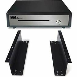 6 Inches Heavy Duty Black Push Open Cash Drawer 5b5c With Under Counter Metal