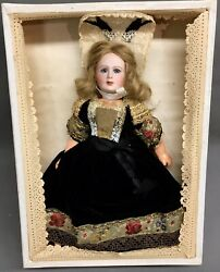 Rare 9-1/2 Jumeau 221 Great Lady In Box Cabinet Doll Bisque-head French Antique