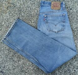 Vtg 501 Xx Button Fly Denim Jeans Fits 32x28 Tag 35x33 Made In Usa 90s